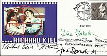 James Bond Actors multi-signed FDC. Smashing 2001