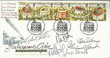 Multi-signed legends FDC nice 1995 Shakespeare's