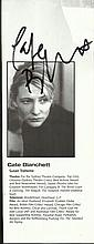 Cate Blanchett signed theatre programme portrait