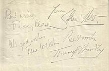 Tommy Handley, Jane Welsh, Mary Clare signed in