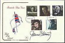 James Stewart signed 1985 British Film FDC with