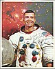 Fred Haise signed 10 x 8 NASA White Space Suit