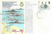 Navy signed cover RNSC(2)14 35th Anniversary of