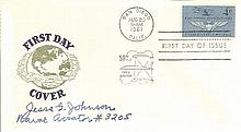 Navy signed cover 1961 US Naval Aviation first day