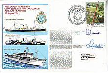 Navy signed cover 70th Anniversary of the