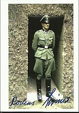Rochus Misch signed 6 x 4 colour photo in SS