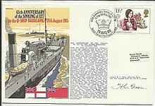 Navy signed cover 1980 RNSC (3)3 Royal Navy cover