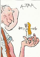 Quentin Blake signed 12 x 8 colour photo of the