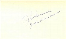 John Lennon & Yoko Ono signed white card.