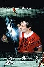 Alan Kennedy Liverpool FC European Cup Montage Signed 12 X 8 Good Condition