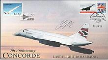Les Brodie signed 5th anniversary Concorde last flight to Barbados Internet
