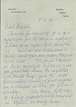 Wing Commander Ken Mackenzie Handwritten and signed letter, with original e