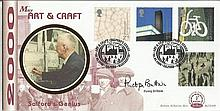 Penny Brittain Benham Official signed FDC BLCS180R Art & Craft Signed by Pe