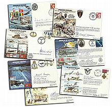 50th Ann WW2 JS50 Special Signed and pilot signed cover collection. Almost