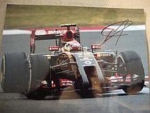 Paster Maldenado Formula One Motor Racing driver personally signed 16x12 ph
