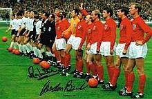 Ray Wilson And Gordon Banks England 1966 World Cup Final Dual Hand Signed 1