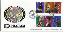 Punch & Judy Pilgrim official cover. No 16 of 100. 4/9/01 Brighton postmark