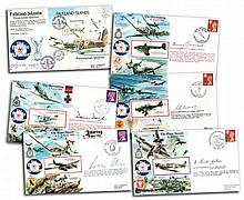 50th Ann Battle of Britain collection RAFA VIP signed covers. 20 covers sig