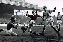 Albert Scanlon Man United Busby Babe Rare Hand Signed 12 X 8 Good Condition