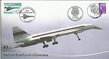 40th anniversary the first ever flight of Concorde Internetstamps cover. 2/