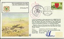 Grp Capt Bill Randle DFM 1982 RAF FF35 Aviation Firsts cover, 70th Annivers