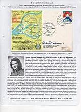 Hallowes GC MBE Signed RAFES Weerzien In De Biesbosch FDC. Only lady to rec