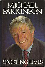 Football legends signed Michael Parkinson book. Hardback book of Sporting L