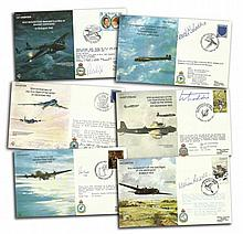 Bomber Command VIP signed covers in RAF album. 36 of the special signed cov