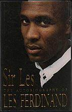 Les Ferdinand signed Hardback book signed bookplate fixed on the title page