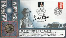 Trevor Baylis Benham Official signed FDC C0193S Marconi Main Coin Signed by