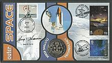 Hugh Harris Benham Official signed FDC CO1/76S 2000/2001 Space Signed by Hu
