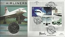 Lord King of Wartnaby Benham Official signed FDC Airliners C/C Signed by Lo