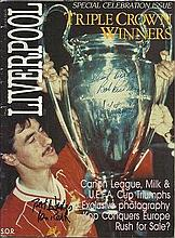 Liverpool Legends signed magazine. 1984 Liverpool Triple Crown Winners Spec