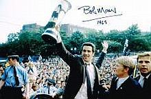 Bobby Moncur Newcastle United Cup Winners Has Added Date Hand Signed 12 X 8