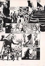 Doctor Who original artwork. Large board measuring 43cm x 58cm of original