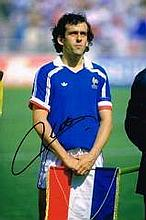 Michel Platini Eufa President France Nice Hand Signed 12 X 8 Good Condition