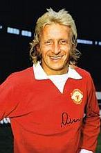Denis Law Manchester United Superb Hand Signed 12 X 8 Good Condition