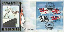 Rear Adm John Adams Benham Official signed FDC BLCS214R Flags & Ensigns Sig