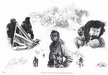 Ranulph Fiennes signed print. 44cm x 30cm print autographed by famous explo
