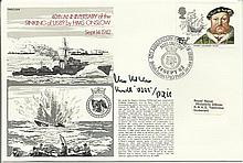 40th anniversary of the sinking of U589 by HMS Onslow official navy cover.