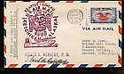 1940  US FFC First Flight Cover Signed by Post Ma