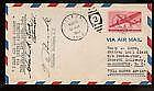 1943  US FFC First Flight Cover Signed by Post Ma