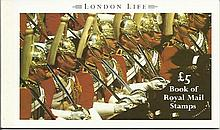 £5 London Life stamp booklet Complete with all st