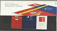 1993 20 x 1st Class Definitives Pack 29 presentat