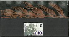 £10 High Value definitive 1993 Pack 28 presentati