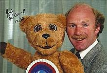 Roger De Courcey With Nookie Bear In Person Signe