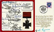 Seven WW2 WW1 Victoria Cross winners signed cover