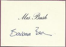 Barbara Bush wife of USA president George Bush si