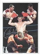 Richie Woodhall signed photo. 16