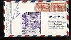 1942  US FFC First Flight Cover Signed by Post Ma